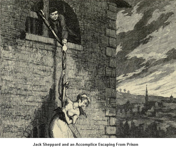 Jack Sheppard Escaping from Prison
