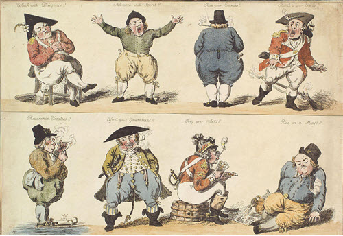 A New Dutch Exercise - A Caricature by Isaac Cruikshank